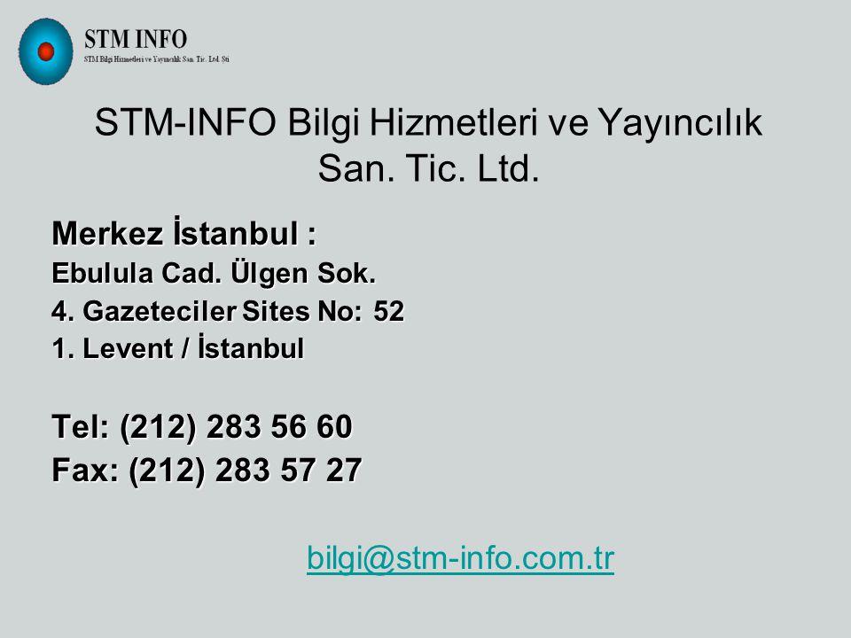 STM-INFO Bilgi Hizmetleri ve Yayıncılık San. Tic.