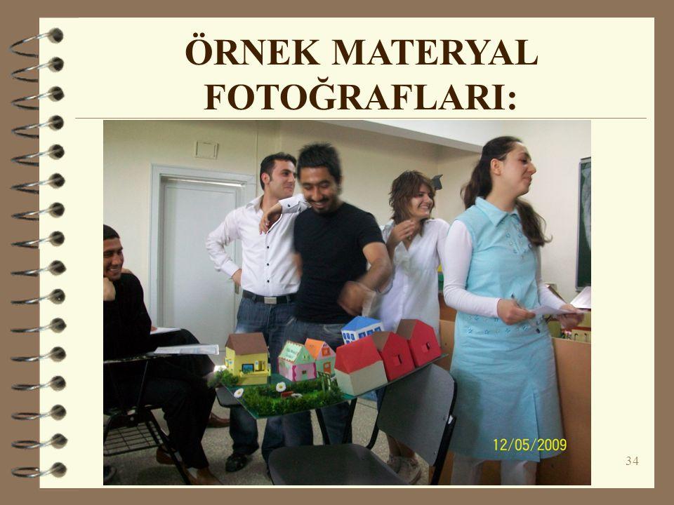 34 ÖRNEK MATERYAL FOTOĞRAFLARI: