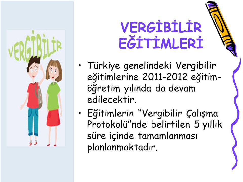 VERGİBİLİR EĞİTİMLERİ Türkiye genelindeki Vergibilir eğitimlerine 2011-2012 eğitim- öğretim yılında da devam edilecektir.