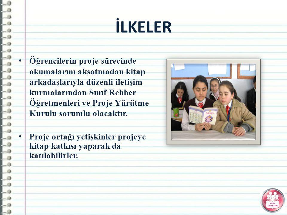 Öğrencilerin proje sürecinde okumalarını aksatmadan kitap arkadaşlarıyla düzenli iletişim kurmalarından Sınıf Rehber Öğretmenleri ve Proje Yürütme Kurulu sorumlu olacaktır.