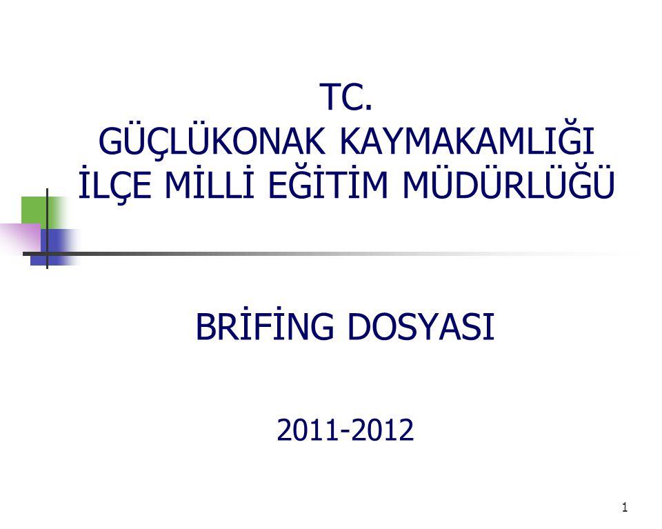 TC. GÜÇLÜKONAK KAYMAKAMLIĞI İLÇE MİLLİ EĞİTİM MÜDÜRLÜĞÜ BRİFİNG DOSYASI 2011-2012 1