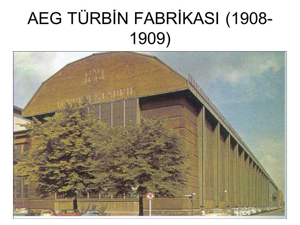 AEG TÜRBİN FABRİKASI (1908- 1909)
