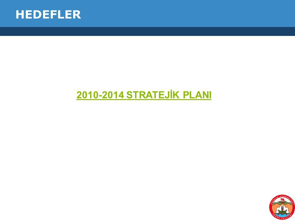 HEDEFLER 2010-2014 STRATEJİK PLANI