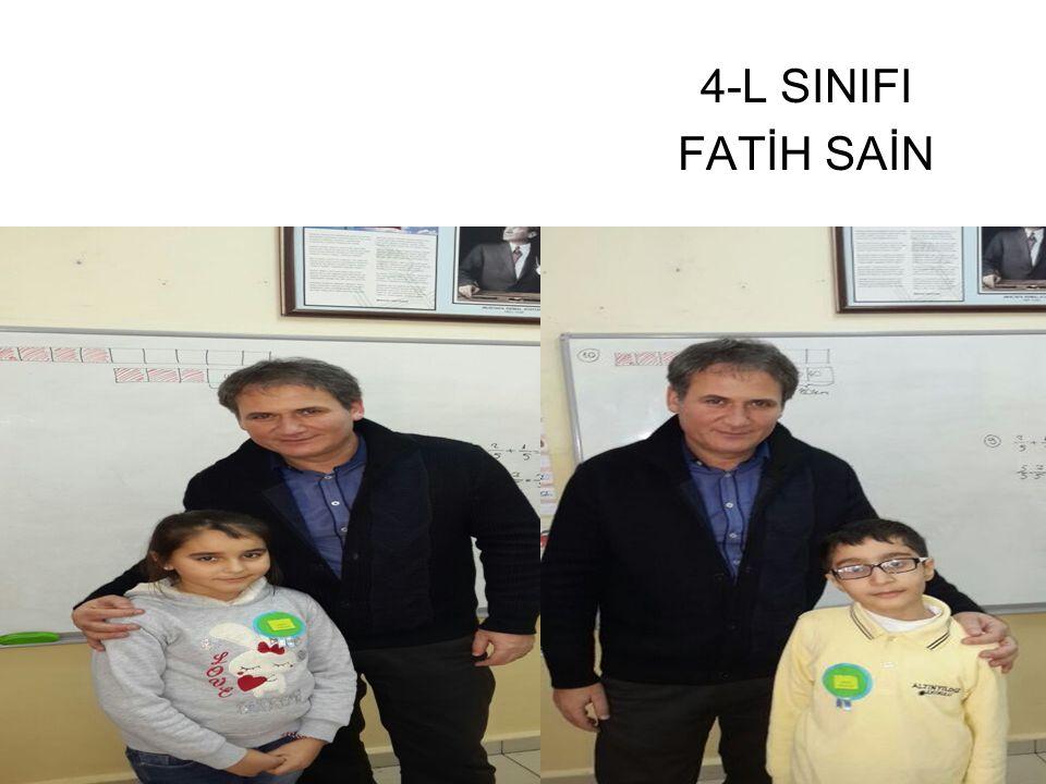4-L SINIFI FATİH SAİN