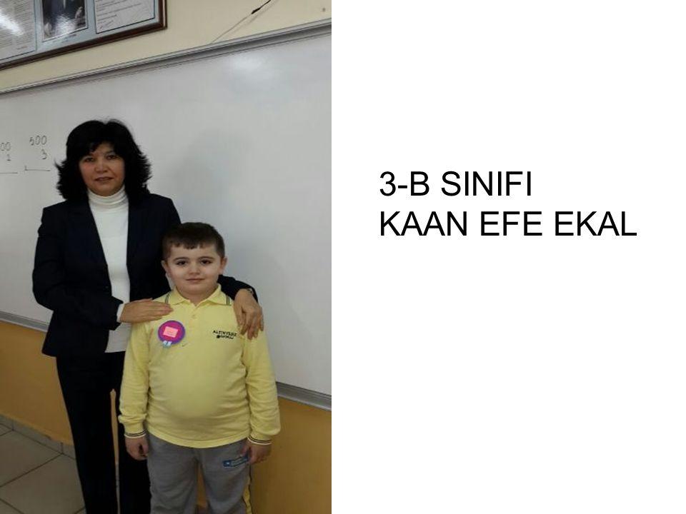 3-B SINIFI KAAN EFE EKAL