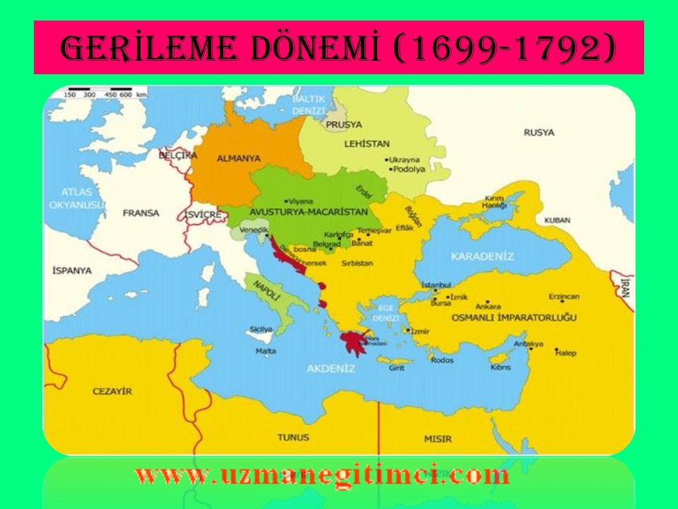 PASAROFÇA ANTLA Ş MASI'NIN SONUÇLARI (1718)  - Osmanlı Devleti, Avrupa'daki olaylardan uzak kalıp barışçı bir siyaset izlemiştir.Barış siyaseti Pasarofça Antlaşması'yla kesinleşmiş ve Osmanlı Devleti batıda genişleme çalışmaları yerine savunma tedbirlerine önem vermiştir.