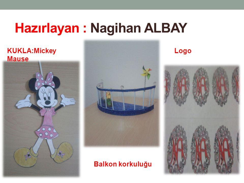 Hazırlayan : Nagihan ALBAY KUKLA:Mickey Mause Balkon korkuluğu Logo