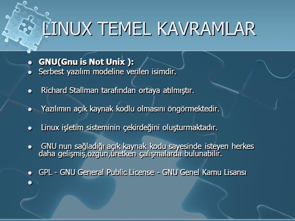 LINUX İŞLETİM SİSTEMİNE GİRİŞ Şimdi Linux un tüm dünyada 20 milyon kadar kullanıcısı olduğu tahmin ediliyor.