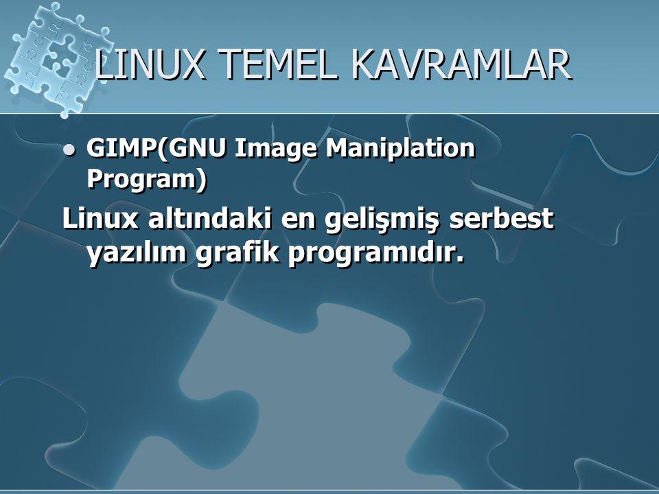 LINUX'UN MEVCUT KULLANIM ALANLARI IPX file server: Novell Netware yerine kullanılacak bir Linux sistemi ile mevcut sistemi değiştirmeden çok daha hızlı bir şekilde disk ve yazıcı paylaştırabilirsiniz.