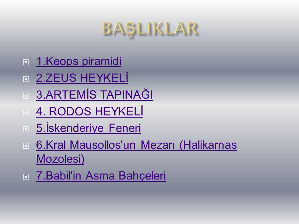 Halikarnas Mozolesi, Kral Mausollos için karısı ve kız kardeşi tarafından yaptırılmış bir mezardır.