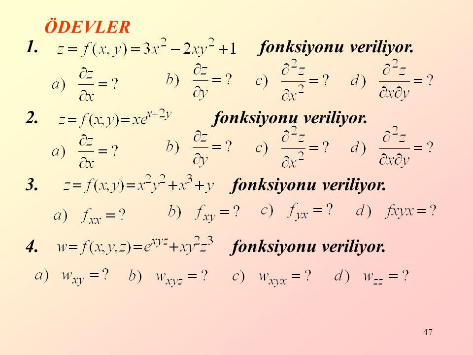 47 1.fonksiyonu veriliyor. 2. fonksiyonu veriliyor.
