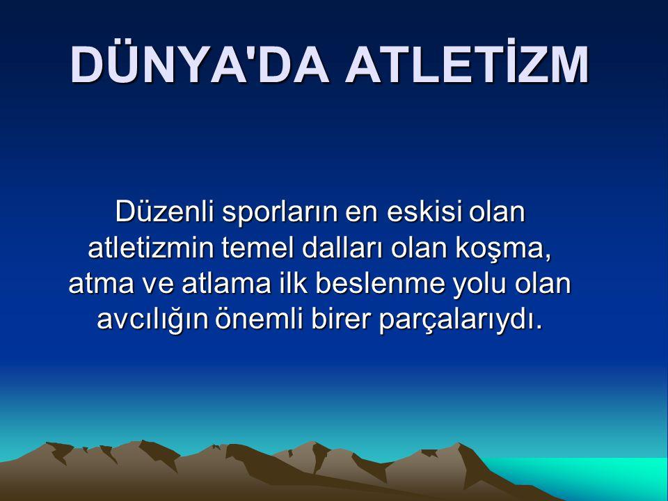 Ama atletizmi ilk yarışma konusu yapanlar İrlandalılar ve Yunanlılardır.
