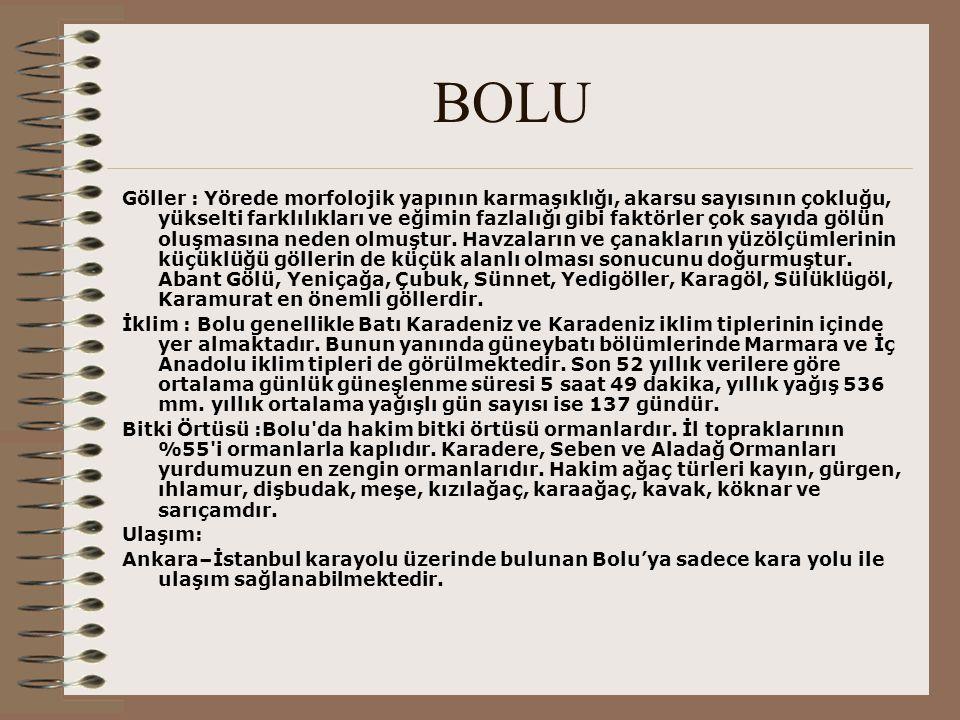 BOLU - Tarihçe Tarihçe :M.Ö.