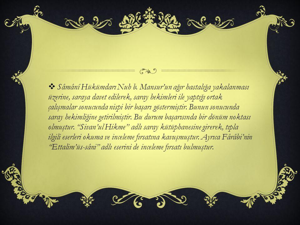 FELSEFES İ  İbn-i Sina, İslam Felsefe'sinin Farabi okulu içinde yer alan en büyük düşünürüdür.