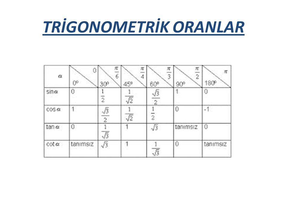 TRİGONOMETRİK ORANLAR