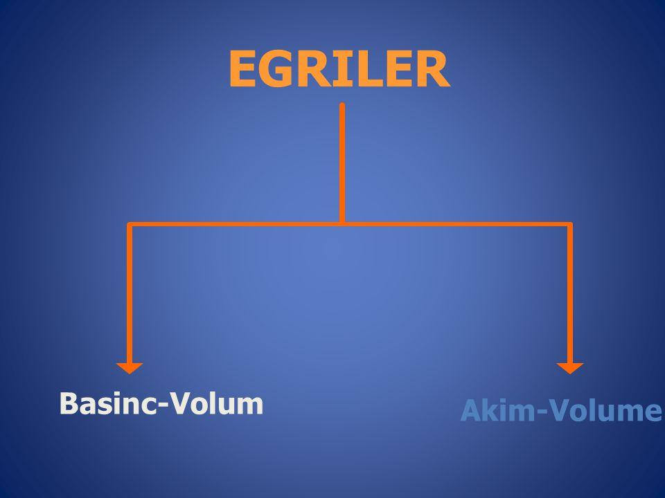 Basinc-Volum Akim-Volume EGRILER