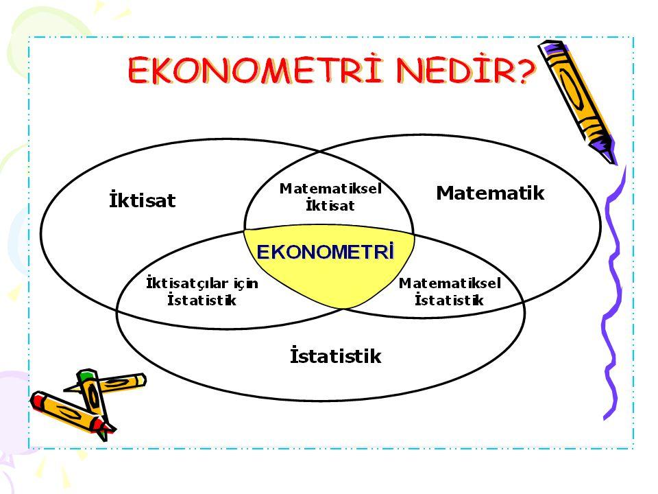 Ekonometrinin bir bilim dalı olarak 1930'lar ba ş ında olu ş maya ba ş ladı ğ ı kabul edilir. Öncesinde, özellikle 1870 1930 döneminde, istatistiksel