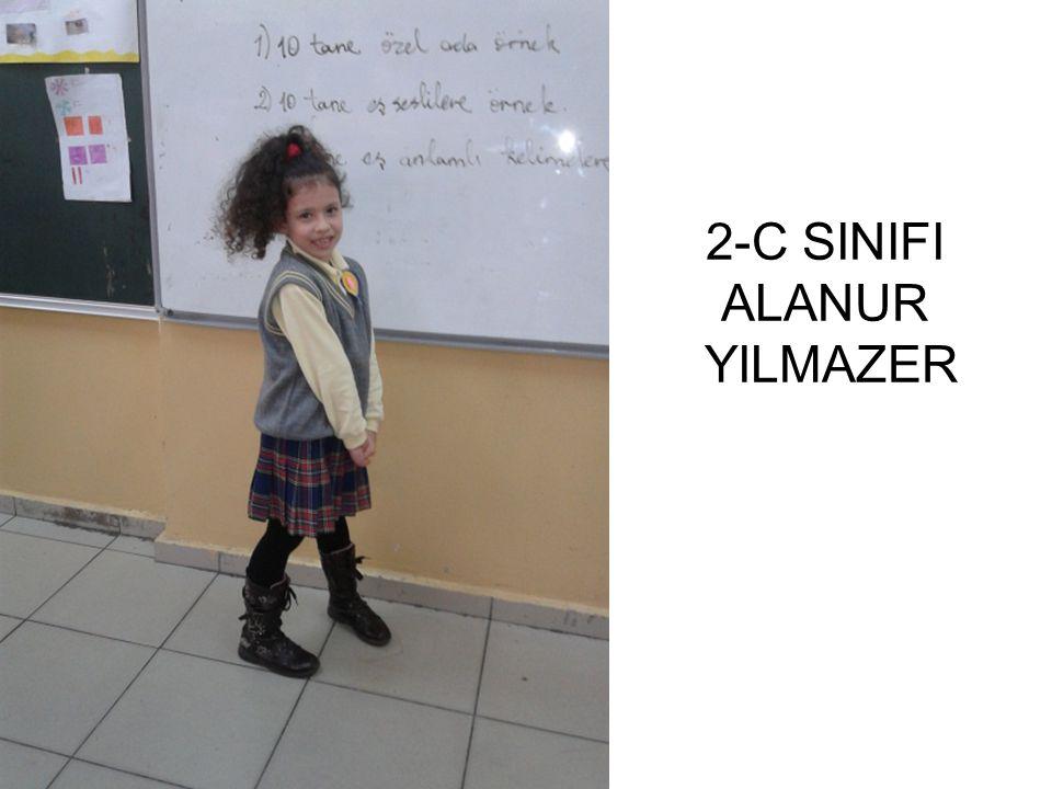 2-C SINIFI ALANUR YILMAZER