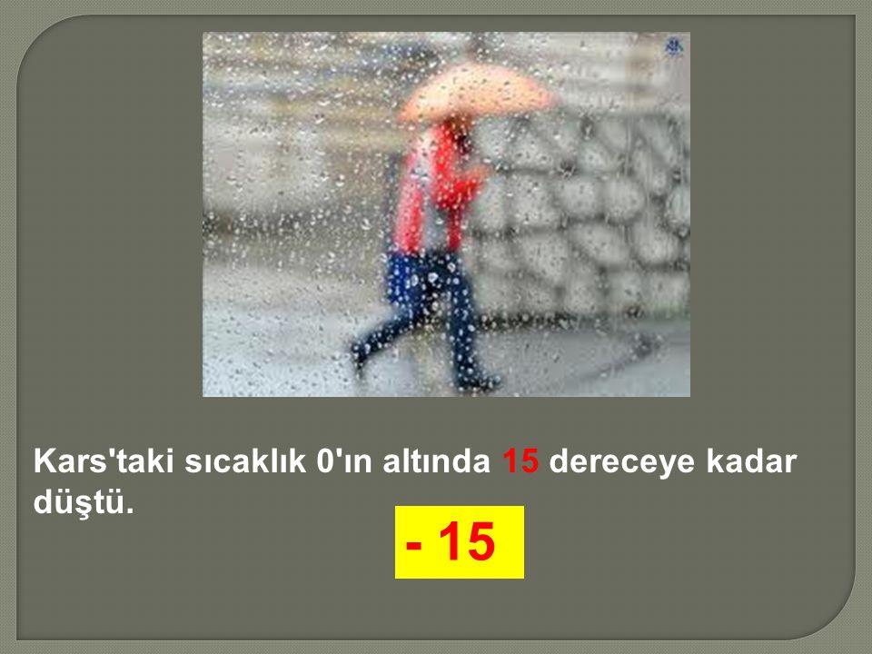 Kars'taki sıcaklık 0'ın altında 15 dereceye kadar düştü. - 15