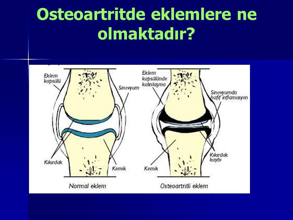 Osteoartritde eklemlere ne olmaktadır?