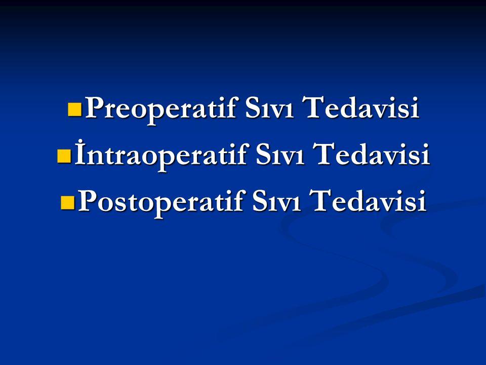 Preoperatif Sıvı Tedavisi Preoperatif Sıvı Tedavisi İntraoperatif Sıvı Tedavisi İntraoperatif Sıvı Tedavisi Postoperatif Sıvı Tedavisi Postoperatif Sı