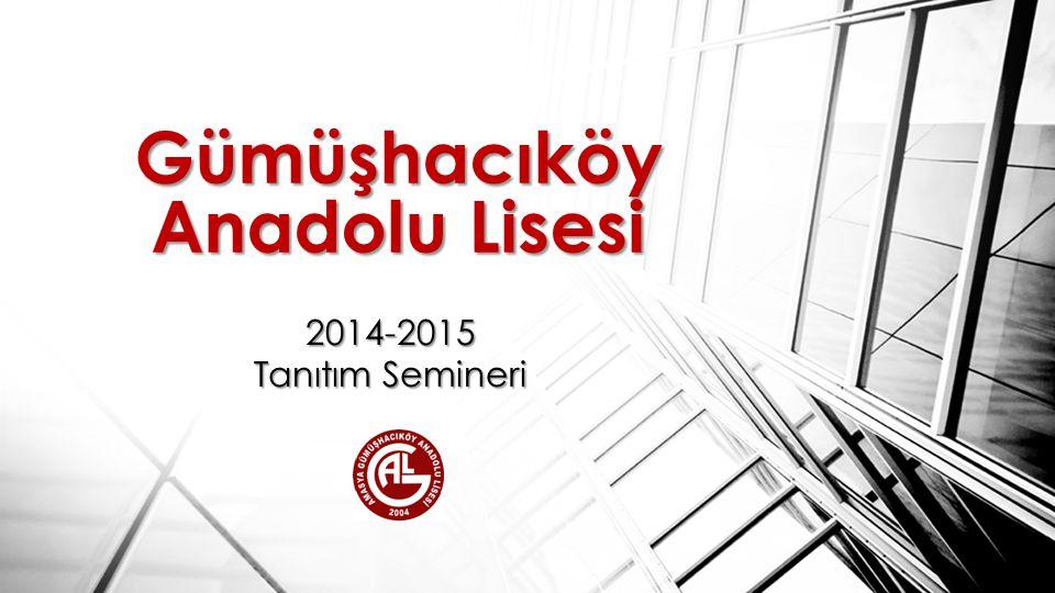 Gümüşhacıköy Anadolu Lisesi 2014-2015 Tanıtım Semineri