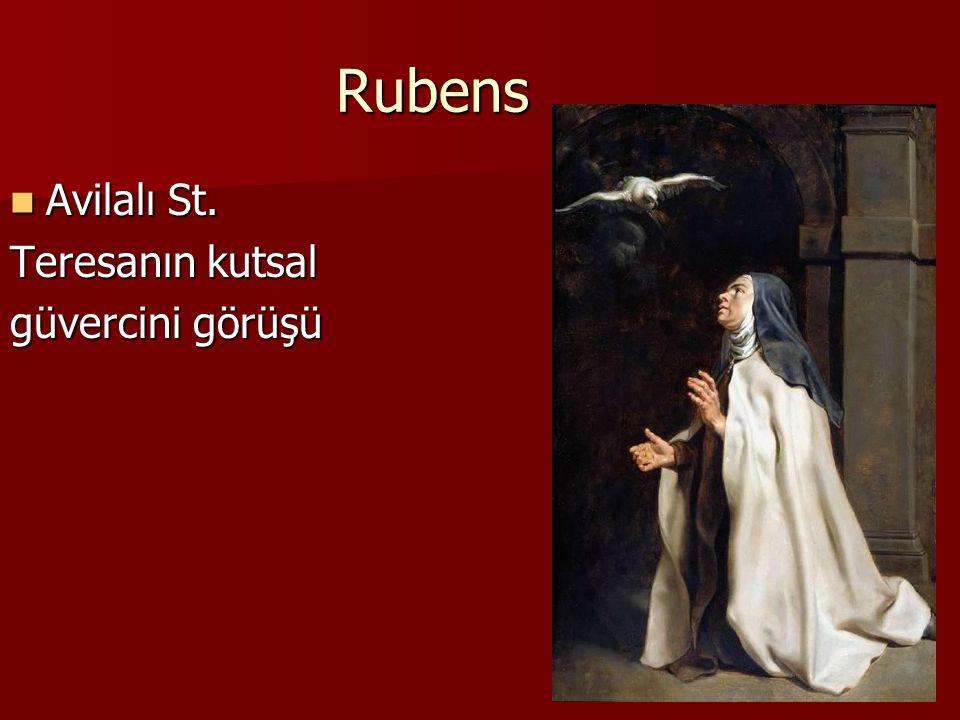 Rubens Avilalı St. Avilalı St. Teresanın kutsal güvercini görüşü