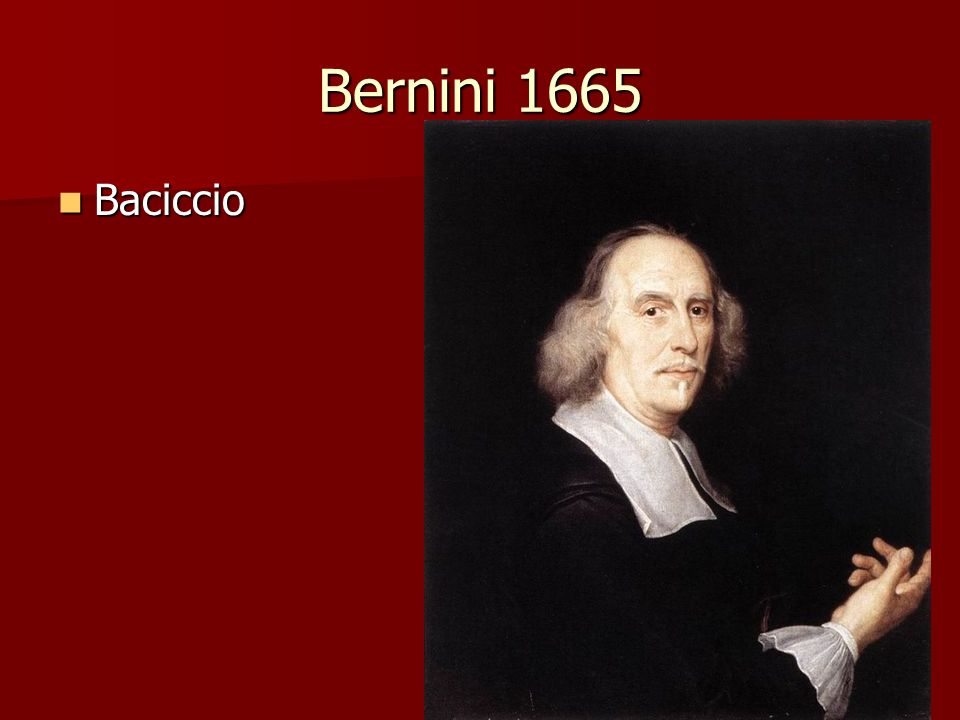 Bernini 1665 Baciccio Baciccio