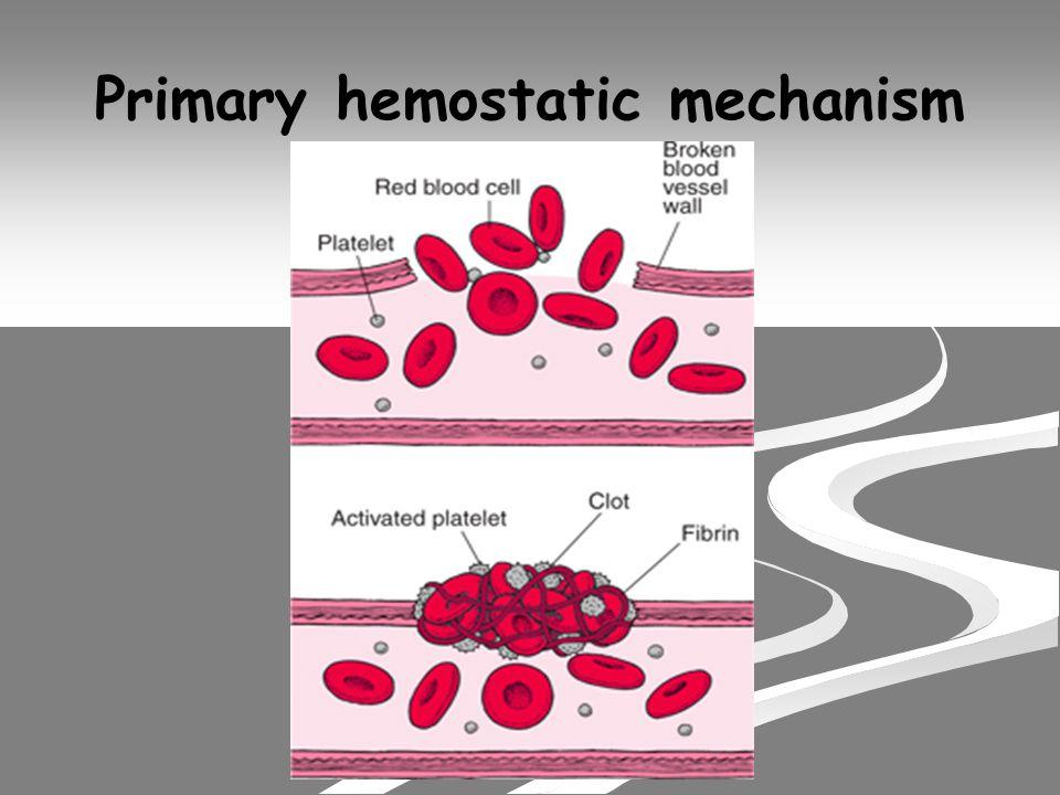 Seconder hemostatik mekhanisma.