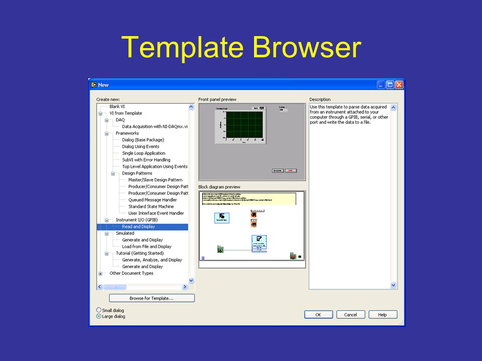 Template Browser
