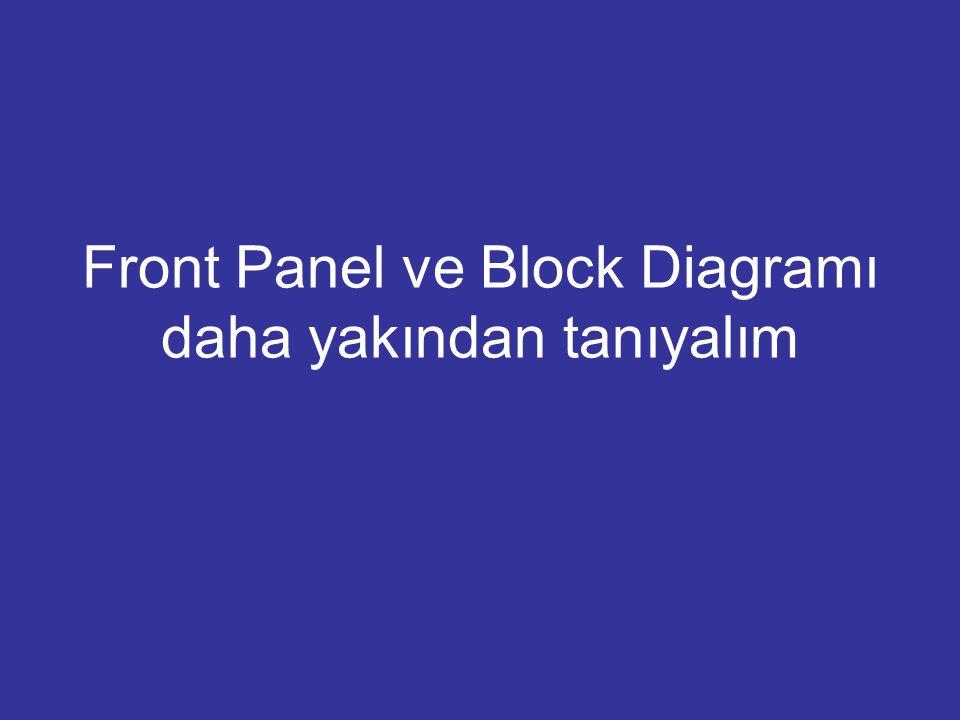 Front Panel ve Block Diagramı daha yakından tanıyalım