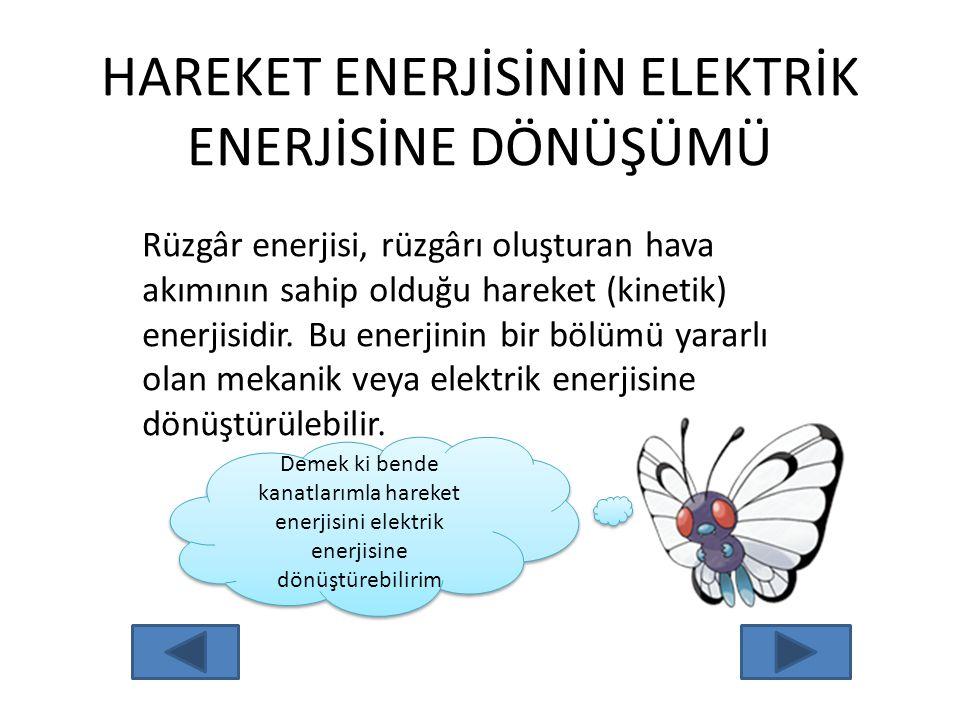 """HAREKET ENERJİSİ : Hareket halindeki cisimlerin sahip olduğu enerjiye; """"Hareket enerjisi"""" denir. Sizce koşan bir atlet hareket enerjisine sahip midir?"""