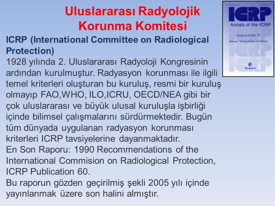 Uluslararası Radyolojik Korunma Komitesi ICRP (International Committee on Radiological Protection) 1928 yılında 2. Uluslararası Radyoloji Kongresinin