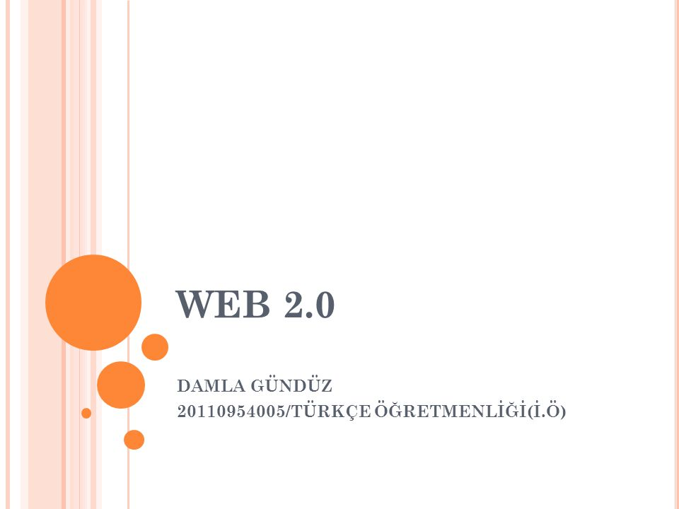 WEB 2.0 DAMLA GÜNDÜZ 20110954005/TÜRKÇE ÖĞRETMENLİĞİ(İ.Ö)