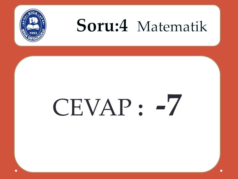 CEVAP : -7