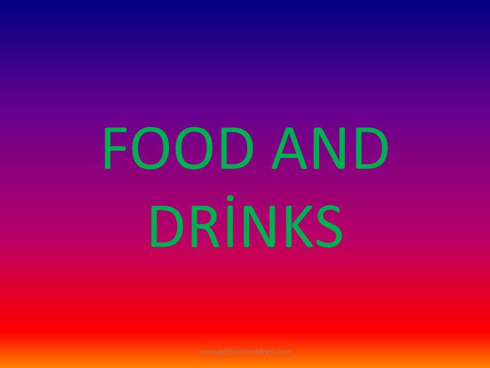 FOOD(YİYECEKLER) www.egitimcininadresi.com