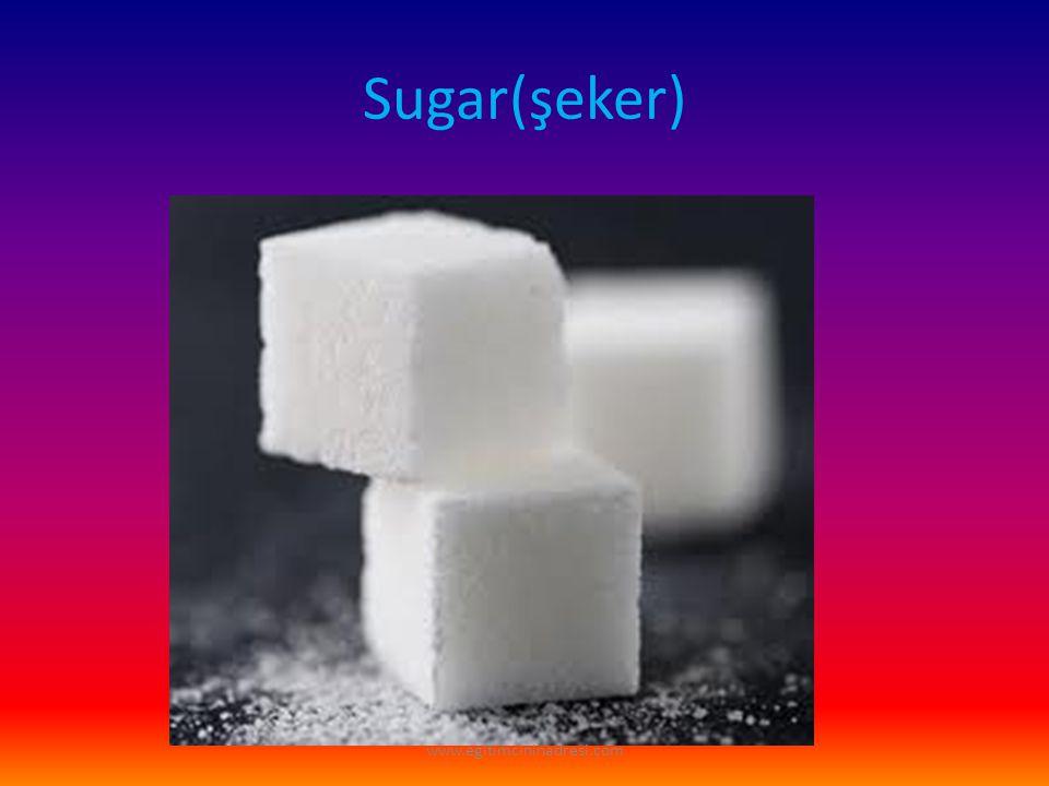 Sugar(şeker) www.egitimcininadresi.com