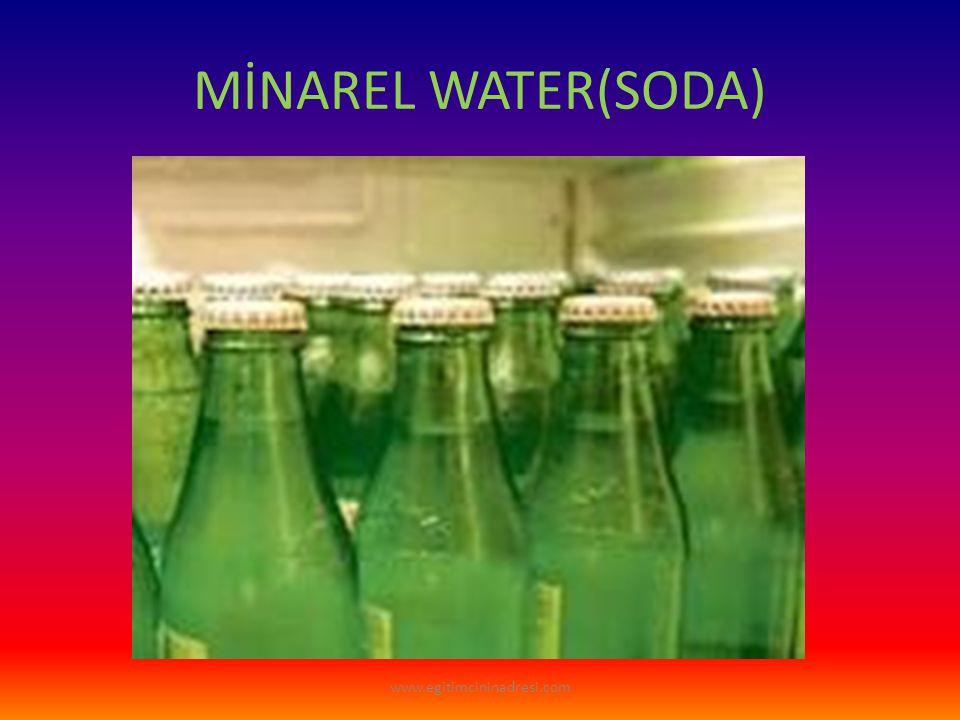 MİNAREL WATER(SODA) www.egitimcininadresi.com