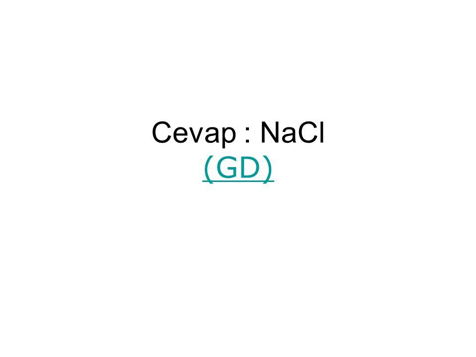 Cevap : NaCl (GD) (GD)