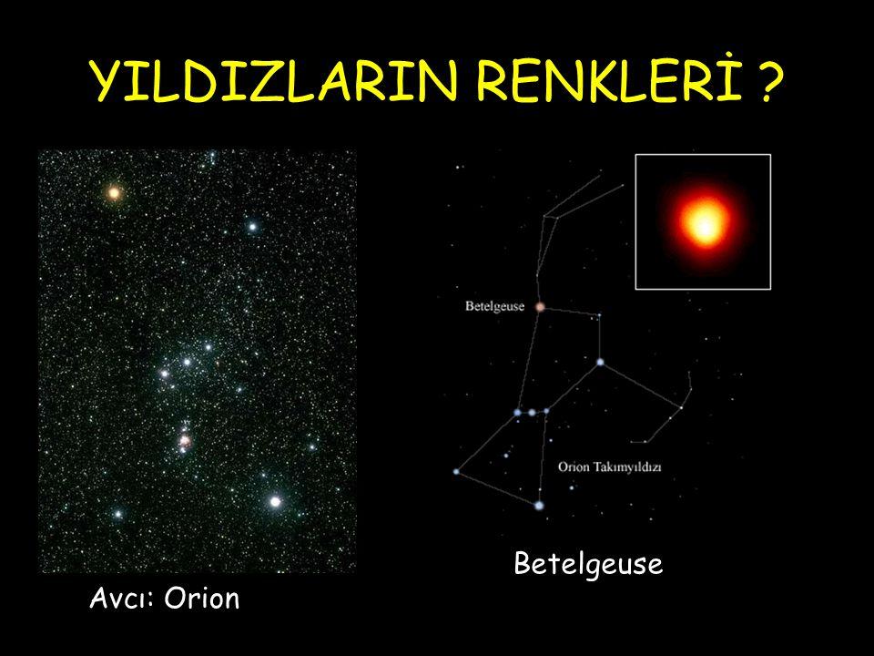 YILDIZLARIN RENKLERİ ? Avcı: Orion Betelgeuse
