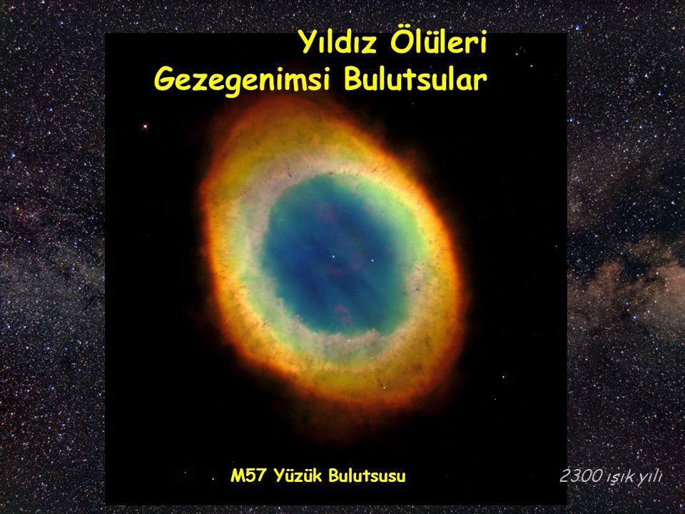 M57 Yüzük Bulutsusu Yıldız Ölüleri Gezegenimsi Bulutsular 2300 ışık yılı