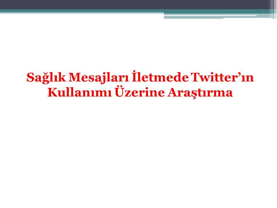 Sağlık Mesajları İletmede Twitter'ın Kullanımı Üzerine Araştırma