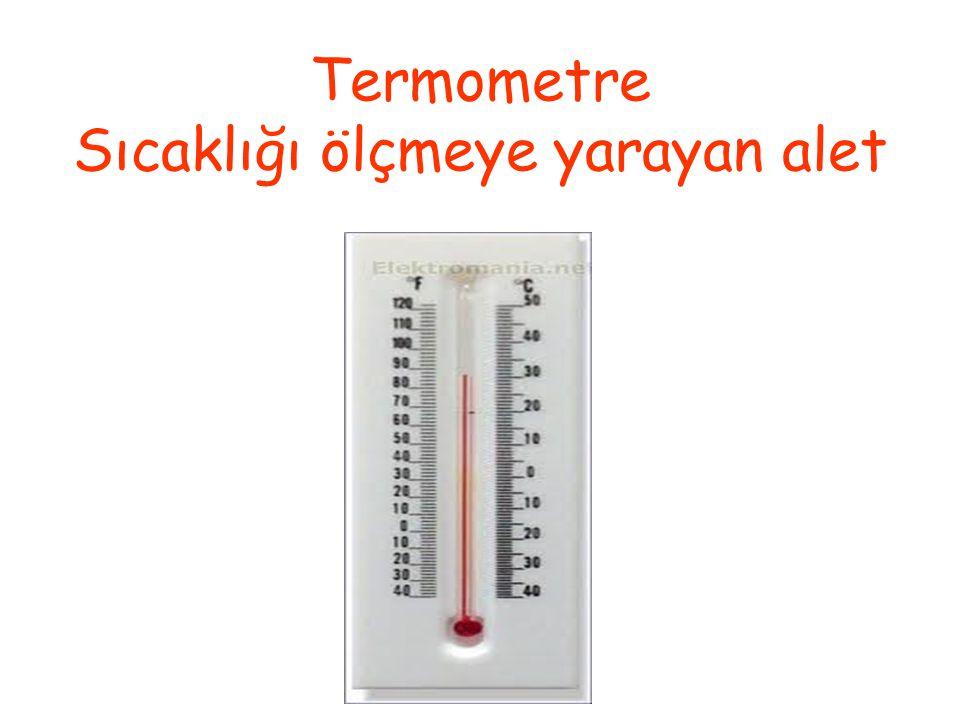 Termometre Sıcaklığı ölçmeye yarayan alet
