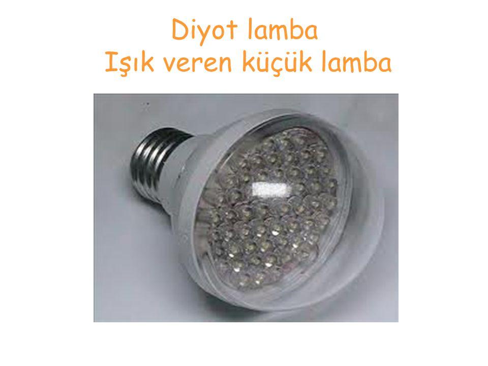Diyot lamba Işık veren küçük lamba