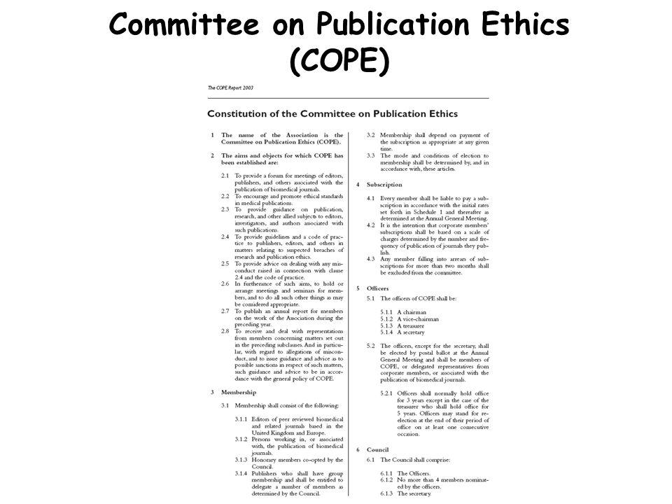 İyi Yayın Kuralları Araştırma tasarımı ve etik onay Veri analizi Yazarların belirlenmesi Menfaatlerin çakışması Hakemlik Tekrar eden yayın (redundant) İntihal Editörlerin sorumlulukları Basınla ilişkiler Reklam