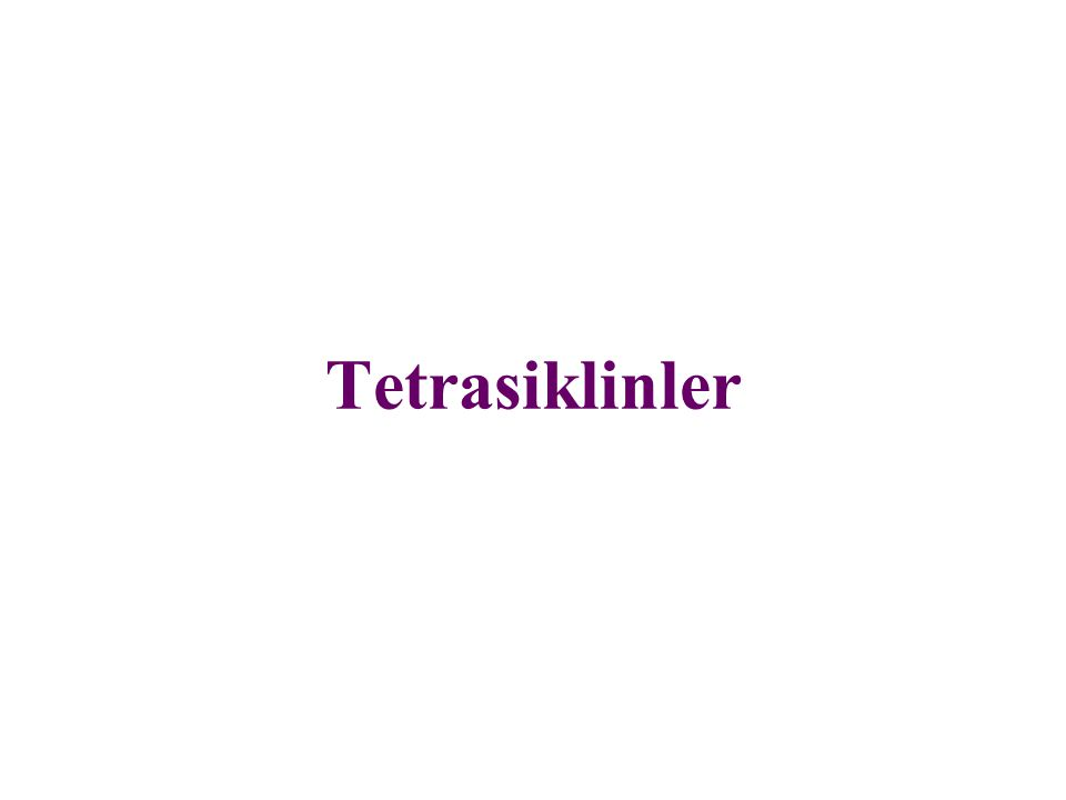 Tetrasiklinler