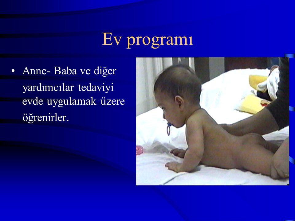 Ev programı Anne- Baba ve diğer yardımcılar tedaviyi evde uygulamak üzere öğrenirler.