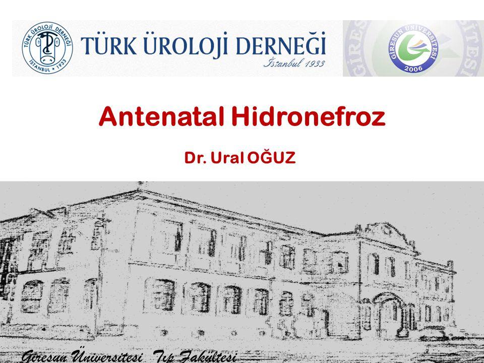Antenatal Hidronefroz Giresun Üniversitesi Tıp Fakültesi Dr. Ural O Ğ UZ