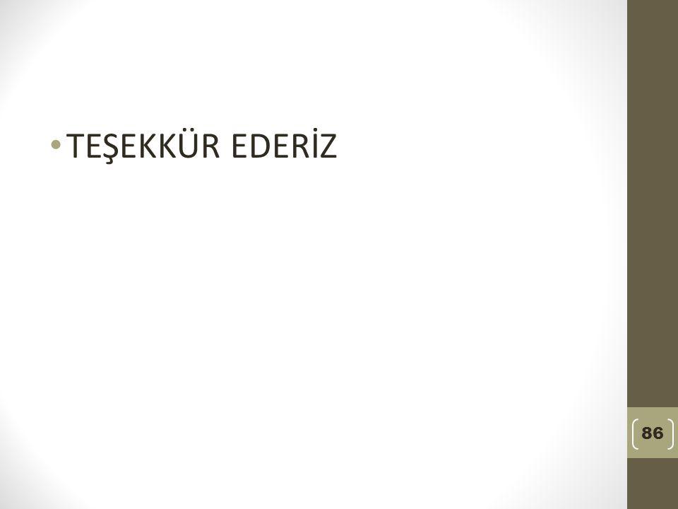 TEŞEKKÜR EDERİZ 86