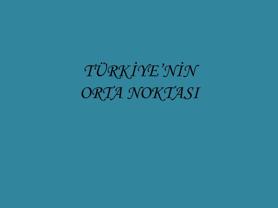 TÜRKİYE'NİN ORTA NOKTASI